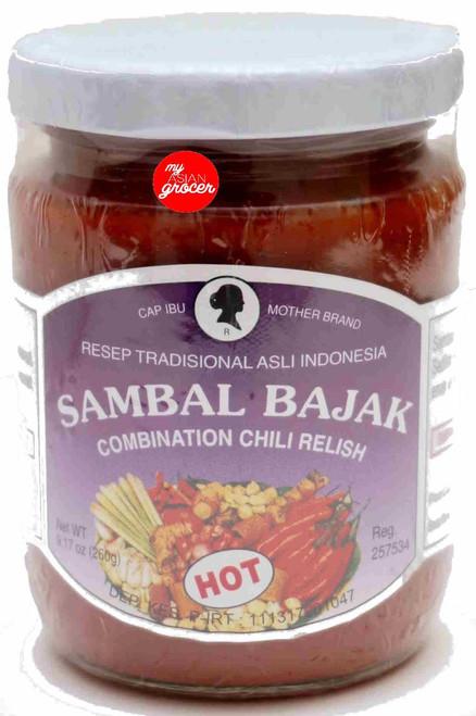 Mother Brand Sambal Bajak (Hot) 260g