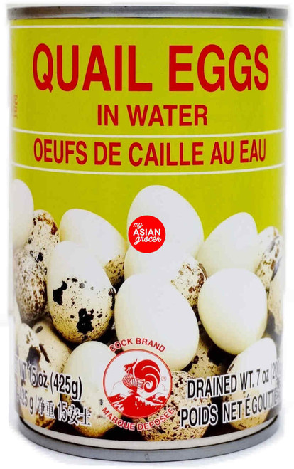 Cock Brand Quail Eggs in Water 425g