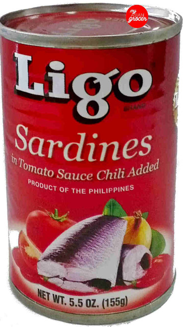Ligo Sardines in Tomato Sauce Chili Added 155g