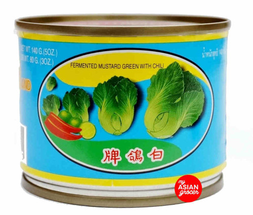 Pigeon Brand Fermented Mustard Green with Chili 140g