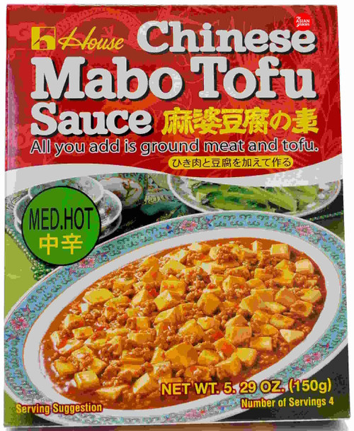 House Foods Chinese Mabo Tofu Sauce Med Hot 150g