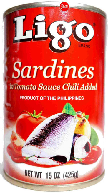 Ligo Sardines in Tomato Sauce Chili Added 425g
