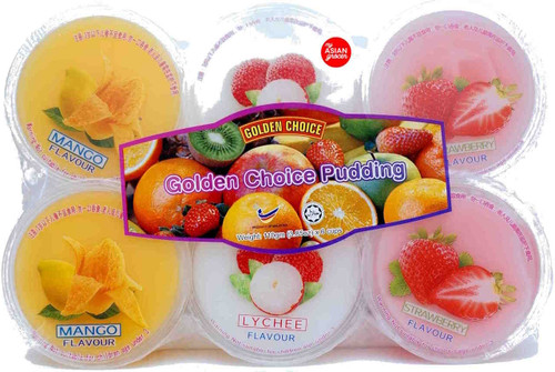 Golden Choice Mixed Fruit Jelly with Nata De Coco 110g x 6 cups