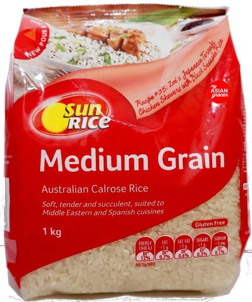 Sun Rice Medium Grain Calrose Rice 1kg