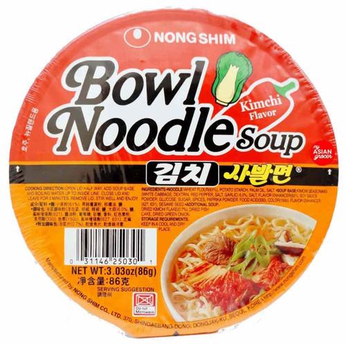 NongShim Bowl Noodle Soup Kimchi Flavour 86g