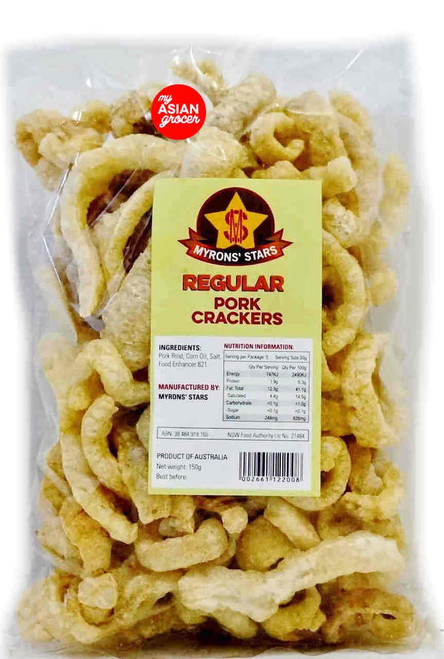 Myrons' Stars Pork Crackers Regular 140g