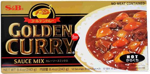 S&B Golden Curry Sauce Mix (Hot) 220g