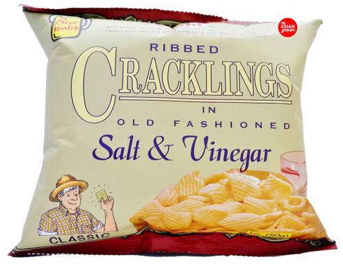 Oishi Ribbed Cracklings in Salt & Vinegar 50g