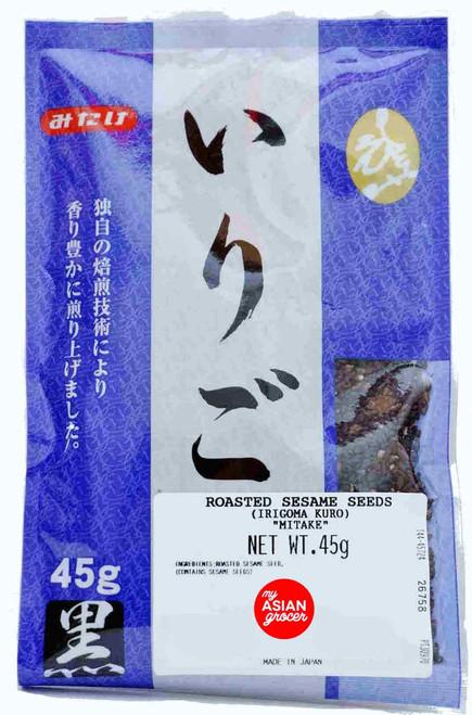 Mitake Irigoma Kuro Roasted Sesame Seeds 45g