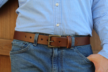 Brown EDC Leather Gun Belt