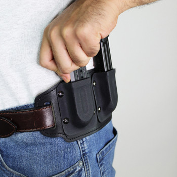 Double magazine belt slide holster