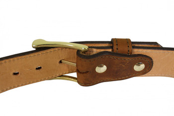 Custom 1.5 inch gun belt white hat holsters