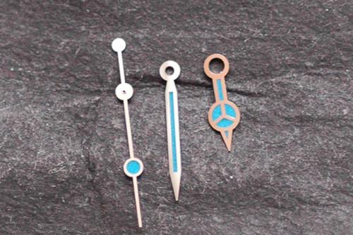 Blue Metallic Merc Hands ETA 2824 2836 for Sumariner Style Watch