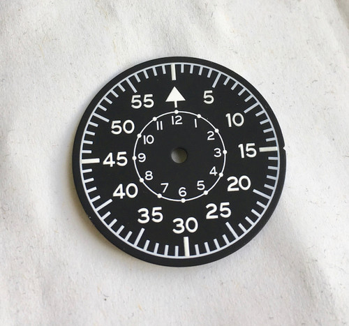 Aviator LUF Dial for Pilot Aviation Luftwaffe B-Uhr Watch w/ Vostok 2416b movement