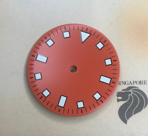 Orange Snowflake Dial for Vostok 2416b movement