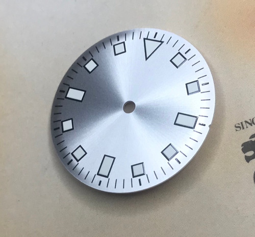 Sunburst Pearl White Snowflake Dial for Vostok 2416b movement