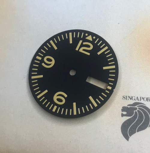 Yellow  Aviator w/ Day Date Dial for Pilot Aviation with Seiko 7S26 NH35 movement 28.5mm