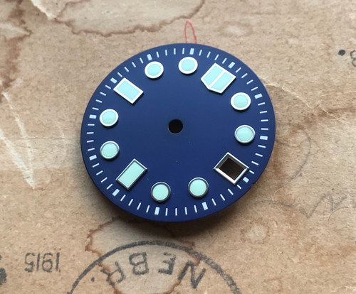 C5 Lume Deep Blue MM Marine Master Dial Seiko MOD Diver's Watch 7S26 NH35 Movement