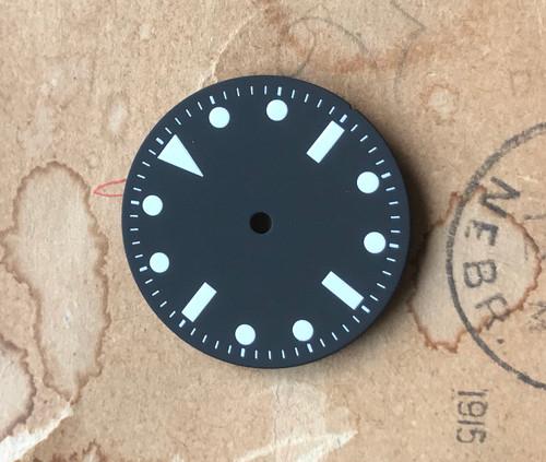 White Milsub Dial Military Watch Seiko 7S26 NH35 Movement MOD