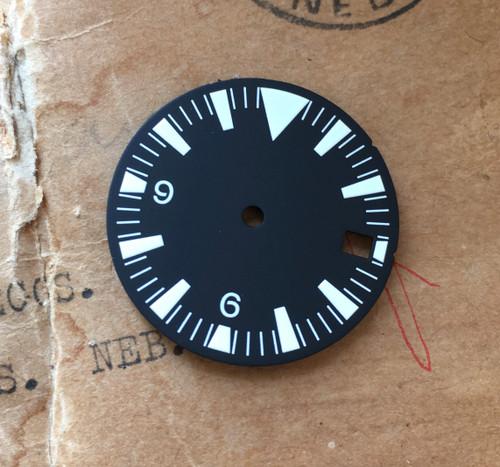 White SM Tri w/date Dial for Seamaster Seiko 7S26 NH35 Movement MOD White Lume 28.5mm