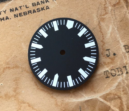 Shark Tooth Diver's Watch Dial MOD for 62MAS Seiko 7S26 Movement 2 Positiions