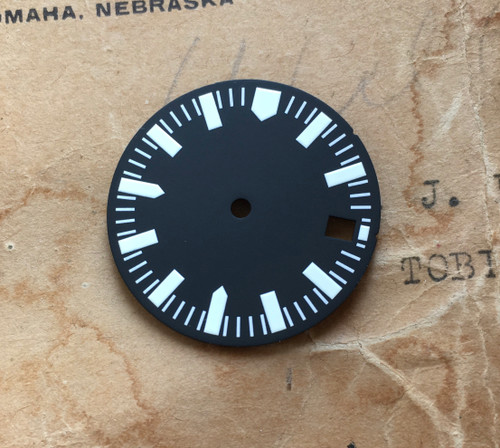 Shark Tooth w/date Diver's Watch Dial MOD for 62MAS Seiko 7S26 2 Positiions