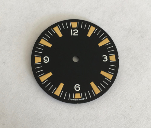 Dirty Yellow SM Seamaster 300 Dial for Seiko 7S26 Movement 28.5mm