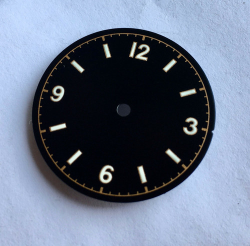 White Bond 12 Dial Milsub Watch Black Bay Gilt Dial for 7S26 NH35 Movement