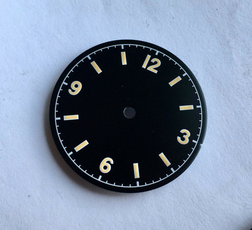 Yellow Bond 12 Dial Milsub Watch Black Bay Gilt Dial for 7S26 NH35 Movement