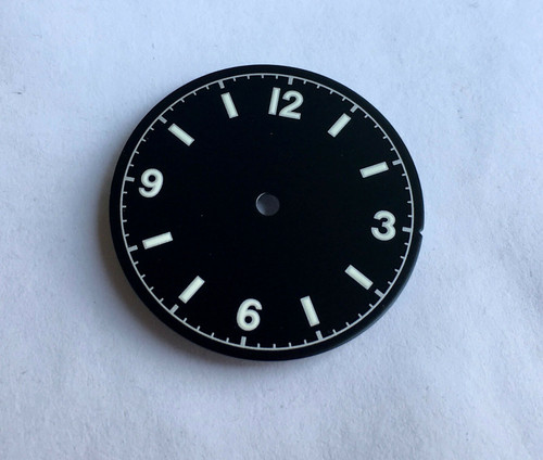 Silver Bond 12 Dial Milsub Watch Black Bay Gilt Dial for 7S26 NH35 Movement