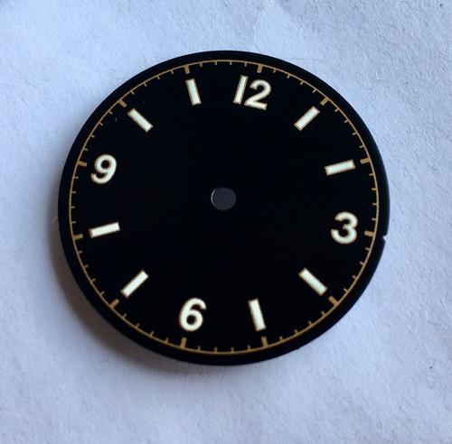 White Bond 12 Dial Milsub Watch Black Bay Gilt Dial for ETA 2824 2836