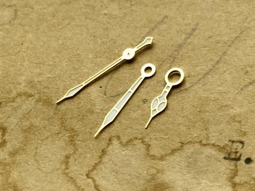 Gold Chrono Cathedral Style Watch Hands Valjoux 7750 Jadur Breitling Wakmann