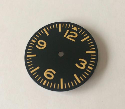 Yellow Aviator Dial Pilot Aviation Watch for Vostok 2416b 2415 2414 movement 28.5mm Superluminova