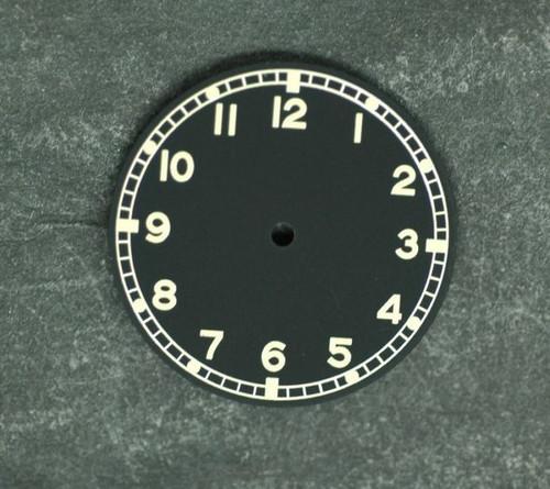 Military Dial ETA 2836 / 2824 movement Yellow Superluminova