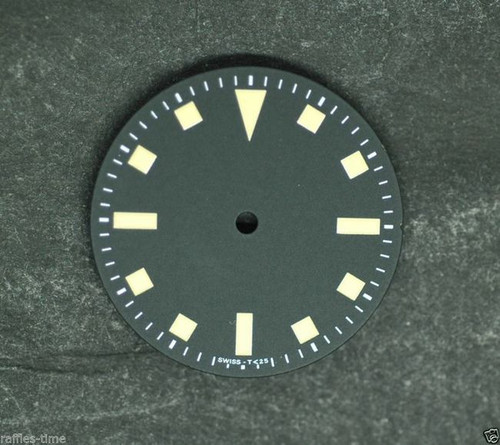 Yellow Vintage Snowflake Dial ETA 2824 / 2836 Superluminova Watch Dial