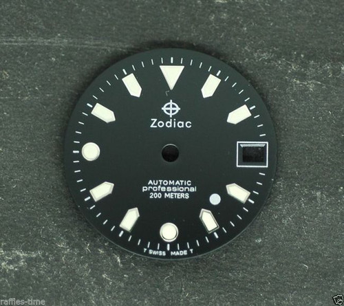 Zodiac Dial white Dot for ETA 2824 2836 movement 26.5mm
