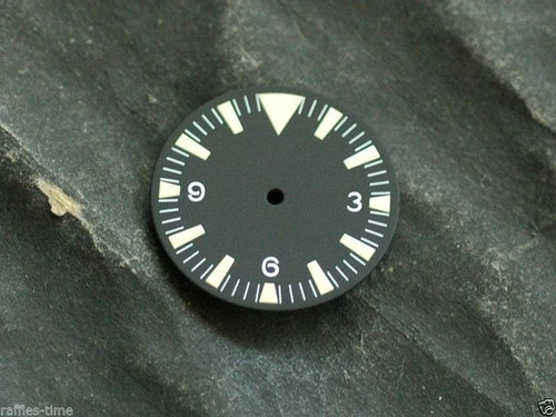 Yellow Lume SM Dial for DG 2813 Miyota 8200 Movement Triangle@12 for Seamaster 300 Style Watch
