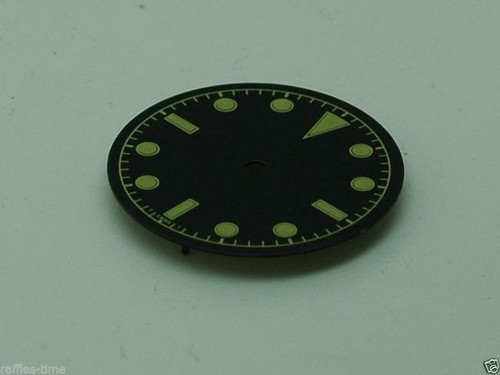 Plain Bond Milsub Watch Gilt Dial for ETA 2836 2824 Movement Yellow Lume