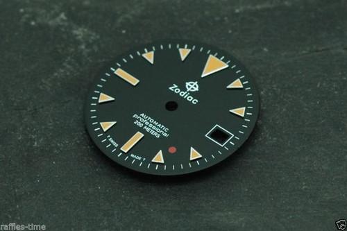 Zodiac Dial Red Dot for ETA 2824 2836 movement Custom Orange lume