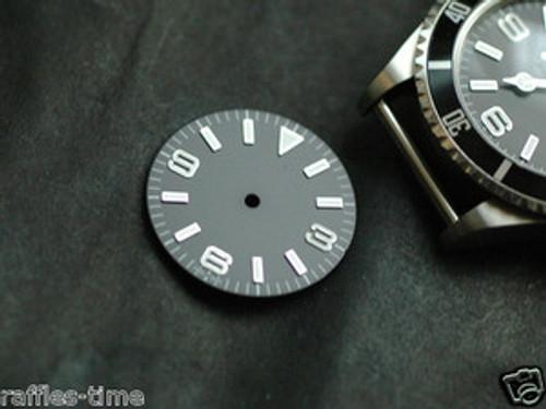 Plain Explorer Watch Dial for DG 2813 Movement White Lume
