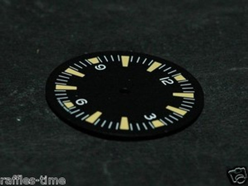 Yellow Lume SM Dial for ETA 2824 2836 Movement Sterile Seamaster 300 Dial