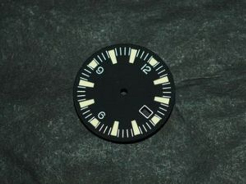 Yellow Lume SM Dial for DG 2813 Movement w/ date Sterile Seamaster 300 Dial
