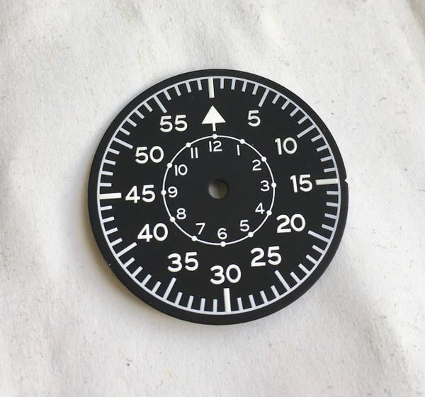 Aviator LUF Dial for Pilot Aviation Luftwaffe B-Uhr Watch w/ Vostok 2416b movement