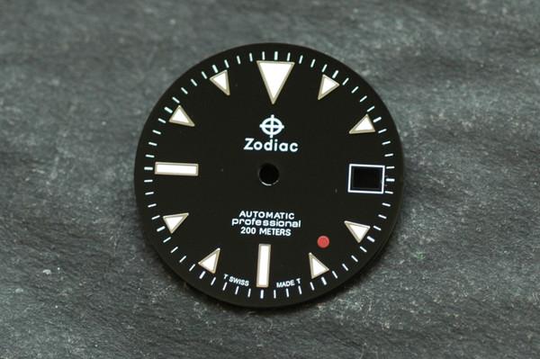 Custom Zodiac Dial Red Dot for ETA 2824 2836 movement White Lume