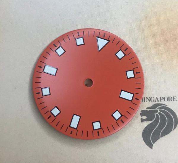 Orange Snowflake Dial for Vostok 2416b movement