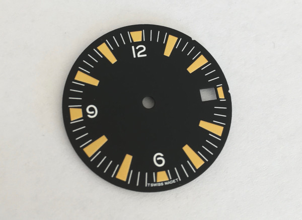 Dirty Yellow SM w/date  Seamaster 300 Dial for Seiko 7S26 Movement 28.5mm