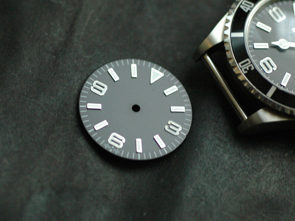 Plain Explorer Watch Dial Dial for ETA 2836 / 2824 Movement
