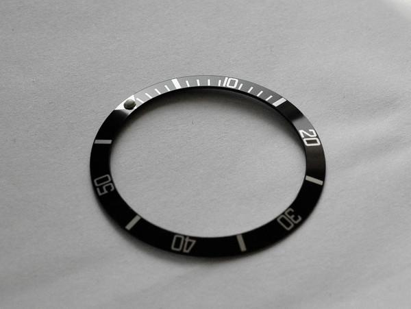 Submariner Style Black White Bezel Insert 16610, 16800