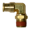 269PPSDOT, DOT Brass Push to Connect 90° Male Swivel Elbow
