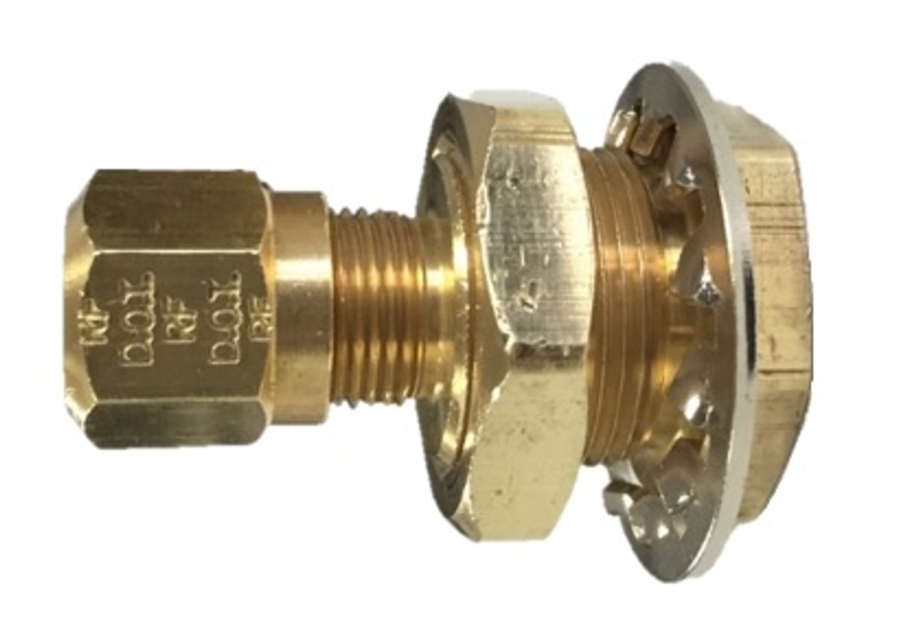 Brass Fittings DOT Air Brake Male Connector Male Pipe 1//8 Qty 1 Tube OD 3//8